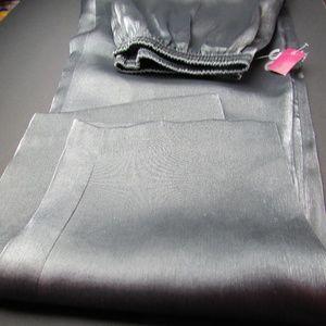 ⏬$35 Silver Metallic Pants Wide Leg Elastic Waist